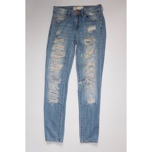 Garage Distressed Skinny Jeans Sz 0